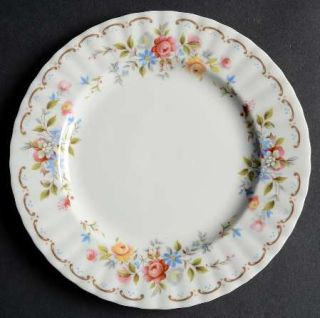 Royal Albert Jubilee Rose Salad Plate, Fine China Dinnerware   Montrose, Floral,