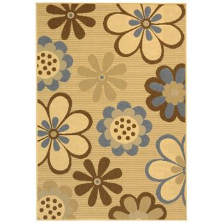 Safavieh Courtyard Natural Brown/Blue Rug CY4035B Rug Size 27 x 5
