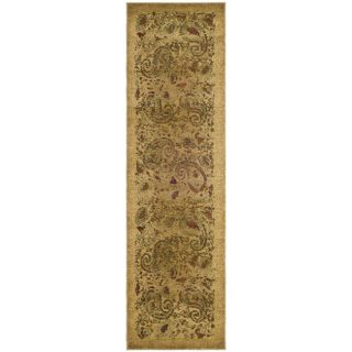 Lyndhurst Collection Paisley Beige/ Multi Rug (23 X 18)