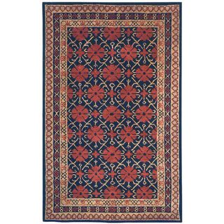 Safavieh Classic Black/Dark Red Rug CL303A Rug Size 4 x 6