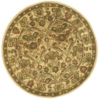 Safavieh Antiquities Garden Panel Gold Rug AT51C Rug Size Round 36