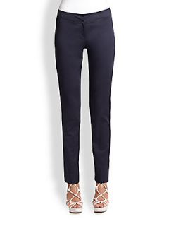 Armani Collezioni Polished Cotton Slim Pants   Denim