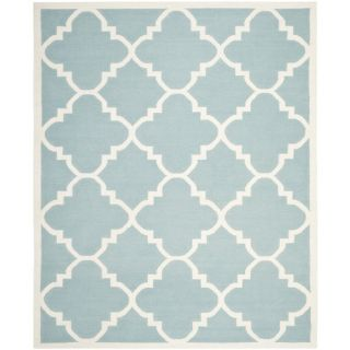 Safavieh Dhurries Light Blue/Ivory Rug DHU633C Rug Size 8 x 10