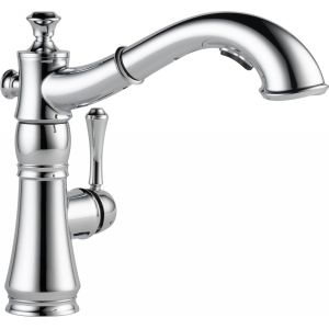 Delta Faucet 4197 DST Cassidy Single Handle Pull Out Kitchen Faucet