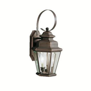 Kichler 9676OZ Outdoor Light, Transitional Wall 2 Light Fixture Olde Bronze
