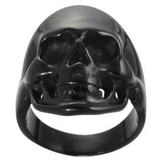 Daxx Mens Black Stainless Steel Skull Ring   Black 13