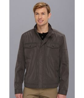 Kenneth Cole Reaction Bonded Hipster Mens Coat (Gray)