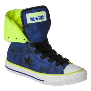 Boys Converse One Star High Top Sneaker   Navy 2
