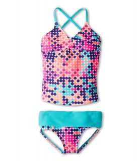 Roxy Kids Beautiful Dreamer Crisscross Tankini Set Girls Swimwear Sets (Multi)