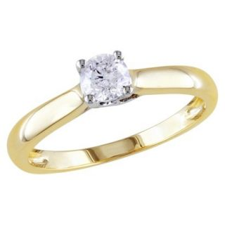 1/3 Carat Diamond in 14k White and yellow Gold Ring (Size 8)