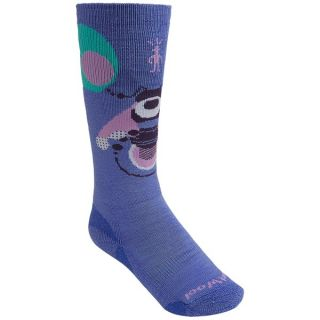 SmartWool Wintersport Bee Socks   Merino Wool  Over the Calf (For Kids and Youth)   POLAR PURPLE (M )