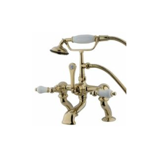 Elements of Design DT4092PL St. Louis Clawfoot Tub Filler With Hand Shower