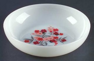Anchor Hocking Primrose (Fire King) Coupe Soup Bowl   White With Primrose Center