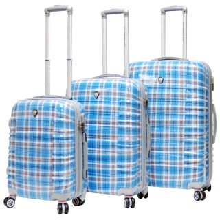 Calpak Impulse Plaid Lightweight Hard side 3 piece Luggage Set