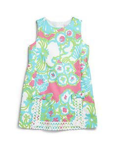 Lilly Pulitzer Kids Toddlers & Little Girls Lace Trimmed Shift Dress   Palm Be