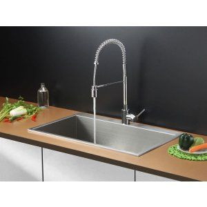 Ruvati RVC2391 Combo Stainless Steel Kitchen Sink and Chrome Faucet Set