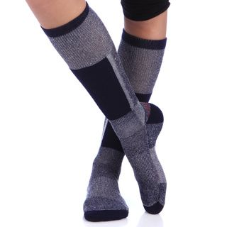 Smart Socks Navy Merino Wool Cushioned Ski Socks (pack Of 3) (NavySize MediumFeatures Cushioned shin and sole, arch support, moisture wicking channelsMaterials 41 percent Merino wool/ 41 percent polypropylene/ 14 percent nylon/ 5 percent elasticCare in