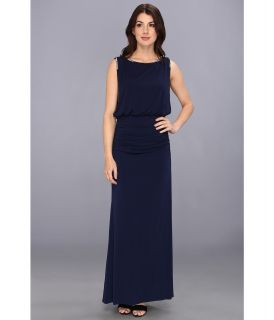 Laundry by Shelli Segal Blouson Gown Matte Jersey Dress Womens Dress (Navy)