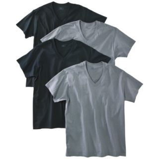 Fruit of the Loom Mens 4 pack V neck Tee   Assorted Colors L
