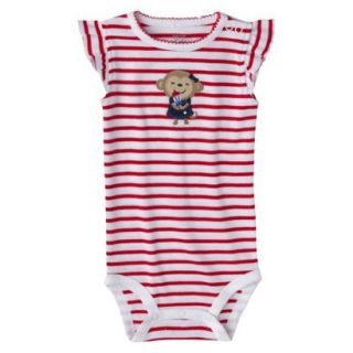 Just One YouMade by Carters Newborn Girls Striped Bodysuit   Red/White NB