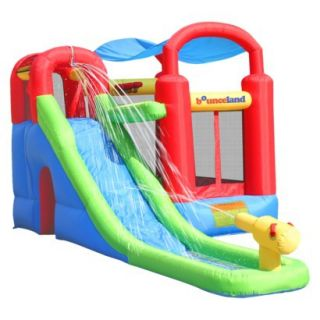 Bounceland Wet or Dry Inflatable Bounce House With Ballpit   Red/ Blue/ Yellow