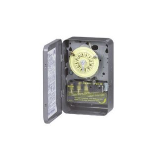Intermatic T103 Timer, 125V DPST 24Hour Mechanical Time Switch