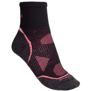 SmartWool 2013 PhD Cycle Mini Socks   Merino Wool  Quarter Crew  Ultralight (For Women)   BLACK (L )