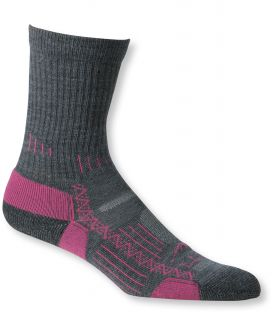 Womens Ascent Hiking Socks, Lightweight Crew 2 Pack