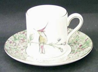 Wedgwood Humming Birds Bond Shape Demitasse Cup and Saucer Set, Fine China Dinne