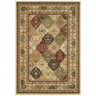 Lyndhurst Collection Multicolor/ Beige Rug (9 X 12)