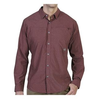ExOfficio Dryfly Flex Shirt   UPF 30+  Button Front  Long Sleeve (For Men)   SEAWEED (M )