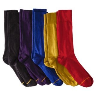 Auro a Gold Toe Brand Mens 5pk Dress Socks   Assorted Solid Colors