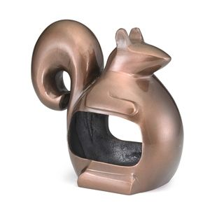 Bronze Enchanted Squirrel Bird Feeder