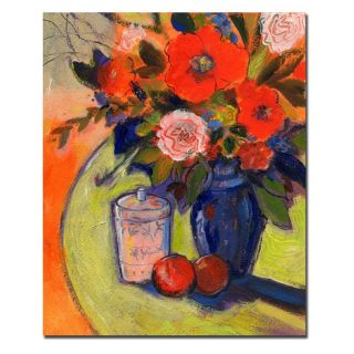 Trademark Global Inc Red Flowers with Jar Canvas Art by Sheila Golden   SG070