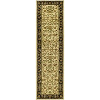 Lyndhurst Collection Majestic Ivory/ Black Runner (23 X 8)