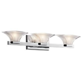 Kichler 45038CH Bathroom Light, Transitional Bath 3Light Fixture Chrome