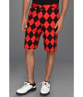 Loudmouth Golf Red and Black Short Mens Shorts (Red)