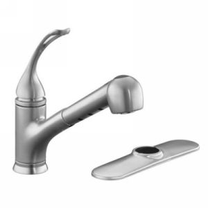 Kohler K 15160 L G Coralais Single Handle Kitchen Faucet with Pull Out Spray