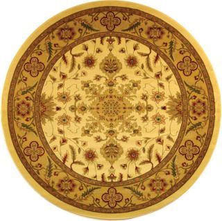 Lyndhurst Collection Ohsak Ivory/ Tan Rug (5 3 Round) (IvoryPattern OrientalMeasures 0.375 inch thickTip We recommend the use of a non skid pad to keep the rug in place on smooth surfaces.All rug sizes are approximate. Due to the difference of monitor c