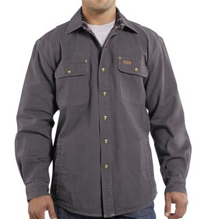 Carhartt Weathered Canvas Shirt Jacket (For Men)   MIDNIGHT (XL )