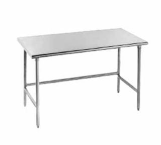 Advance Tabco 84 Work Table   Bullet Feet, 24 W, 16 ga 430 Stainless