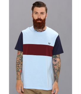 Fred Perry Colour Block T Shirt Mens T Shirt (Blue)