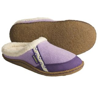 Sorel Felt Nakiska Slippers   Faux Fur Lining (For Kids and Youth)   HYDANGEA/ROYAL PURPLE (11 )