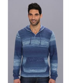Lucky Brand Baja Hooded Sweater Mens Sweater (Blue)