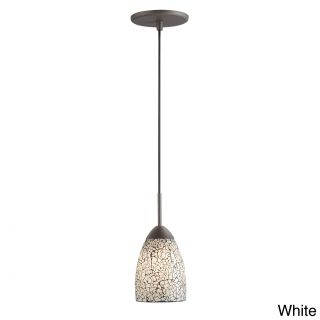 Venezia 1 light Mosaic Glass Metallic Bronze Finish Mini Pendant