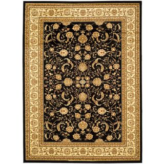 Lyndhurst Collection Black/ Ivory Rug (6 X 9)