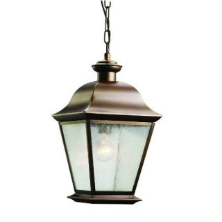 Kichler 9809OZ Outdoor Light, Classic (Formal Traditional) Pendant 1 Light Fixture Olde Bronze