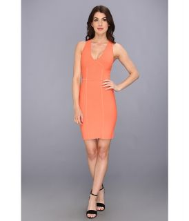 BCBGMAXAZRIA Gemma Knit Sweater Dress Womens Dress (Orange)
