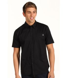 Volcom Why Factor Solid S/S Shirt Mens Short Sleeve Button Up (Black)