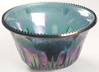 Indiana Glass Princess Blue Carnival (Punch Set) Punch Bowl   Carnival,Punch Set